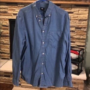 H & M denim shirt